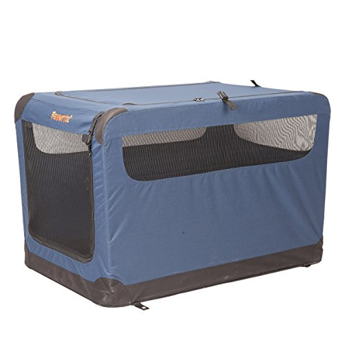 "Favorite 36"" Soft Sided Pet Carrier, 2 Doors, Indoor Outdoor Dog Kennel, Travel Vet Visit Collapsible Soft Dog Crate"