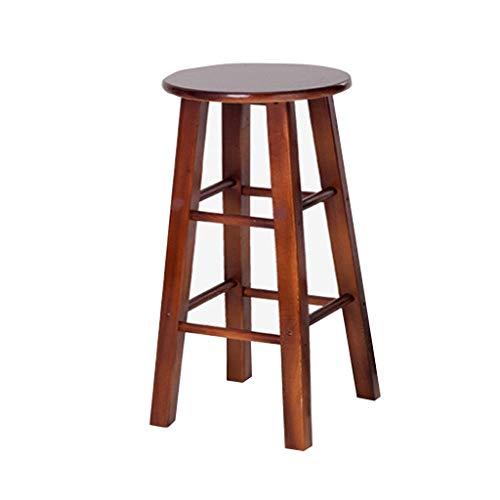 WWW-DENG barkruk van hout, voor volwassenen, retro, massief, hoge voeten, barstoel, mode, eiken (hoogte: 80 cm) barkruk