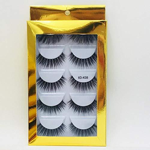 XZY Mixed Styles Hair False Eyelashes Handmade Long Eyelash Wispy Fluffy Multilayer Lashes Reusable,08