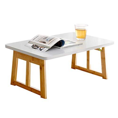 ZLININ Mesa plegable para computadora con escritorio, mesa pequeña, mesa perezosa, estudiante, dormitorio, mesa de estudio 70 x 40 x 31 cm