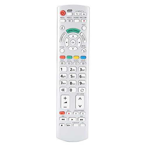 PUSOKEI Mando a Distancia de Repuesto, Smart TV Controller con Teclas de menú dedicadas, sin programación, Compatible con N2QAYB000504 N2QAYB000673 N2QAYB000785 TX ‑ L37EW30 TX ‑ L42ES31