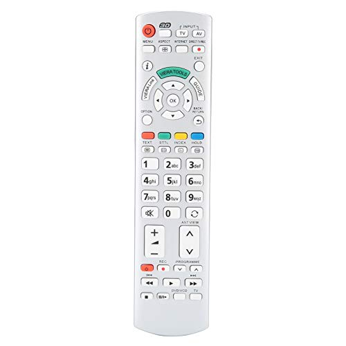 Vbestlife1 Control Remoto de TV Universal, Control Remoto de televisión para N2QAYB000504 N2QAYB000673 N2QAYB000785 TX ‑ L37EW30 TX ‑ L42ES3, reemplazo de Control Remoto