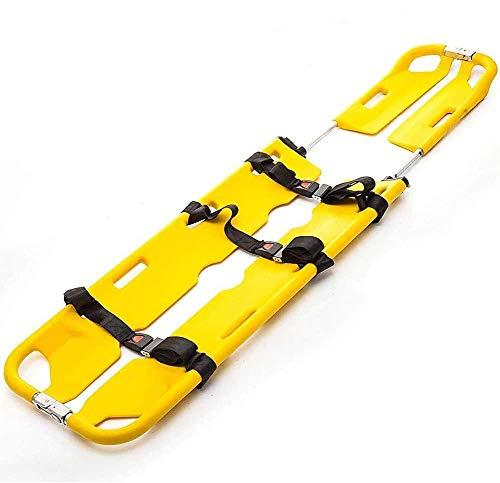 WPY Bahre aus Hochfester PE-Kunststoff, Tragfähigkeit 159 kg, Tragbare Erste-Hilfe-Rettungstransport-Bahre, Bahre für Kliniken, Familien, Sportplätze.