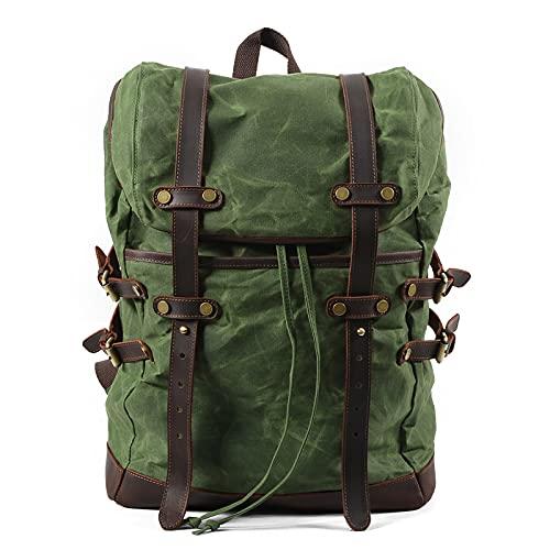 Mochila lona impermeable plegable al aire libre 55L,mochilas escolares retro,bolsas para computadora portátil,mochila montañismo deportivo moda,mochila senderismo para hombres mujeres,30 * 11 * 45 cm
