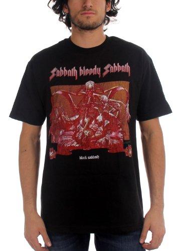 Black Sabbath - - Hommes T-Shirt Noir en Noir, Large, Black