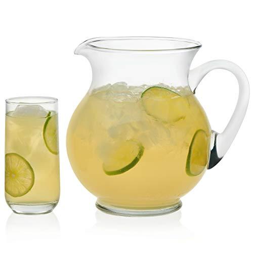 Libbey Acapulco - Juego de 4 vasos de vidrio, Juego de jarra y anteojos (126 oz y 16 oz), 126 oz, 1