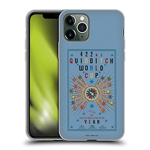 Head Case Designs sous Licence Officielle Harry Potter Poster de la Coupe du Monde de Quidditch Goblet of Fire III Coque en Gel Doux Compatible avec Apple iPhone 11 Pro