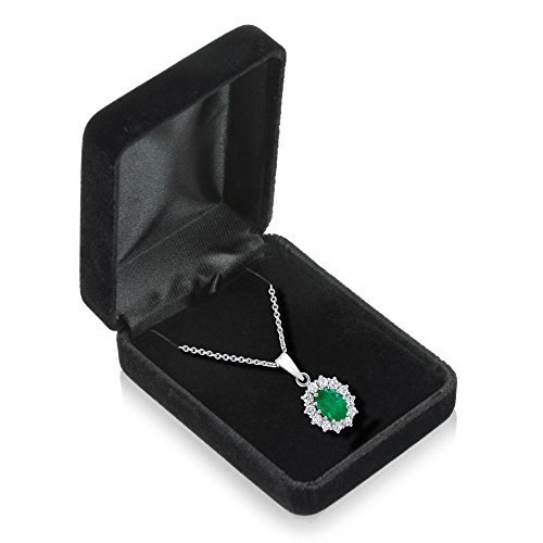 Geff House Velvet Necklace Pendant Box – Jewelry Display & Gift Box for Chains - Removable Insert & Soft Lining - Necklace Case & Organizer
