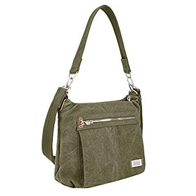 Travelon Anti-Theft Heritage Hobo Bag Cross Body, Sage, One Size