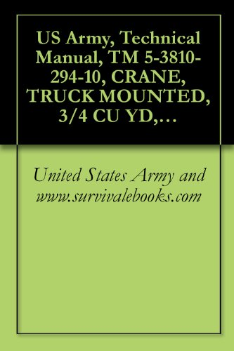 US Army, Technical Manual, TM 5-3810-294-10, CRANE, TRUCK MOUNTED, 3/4 CU YD, 20-TON W/CLAMSHELL, DRAGLINE AND BACKHOE ATTACHMENTS, GED HARNISCHFEGE CORP ... (NSN 3810-00-151-4431) (English Edition)