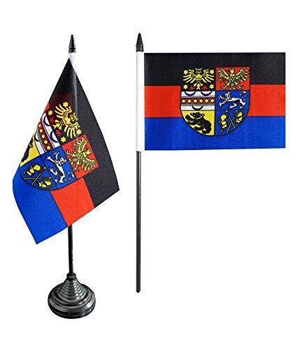 Tischflagge / Tischfahne Deutschland Ostfriesland + gratis Aufkleber, Flaggenfritze®