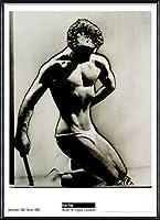 ポスター マン レイ Male Figure Study 1933 額装品 アルミ製ハイグレードフレーム(ブラック)