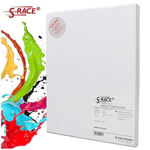S-RACE - Carta per sublimazione, formato DIN A4, 100 fogli, 120 g/m², adatta per stampanti a getto d'inchiostro con inchiostro a sublimazione, asciugatura rapida, resistente alle sbavature