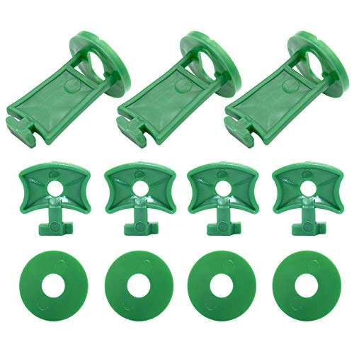KINGLAKE 100Pcs Greenhouse Shading Clips and Corners Extenders Twist Clips for Fixing Greenhouse Insulation Bubble Wrap