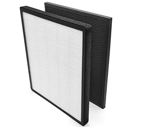 Filterhualv Compatible Replacement for Levoit Air Purifier LV-PUR131 Filter, True HEPA Activated Carbon Filters, LV-PUR131-RF 1 Set (1Pack)