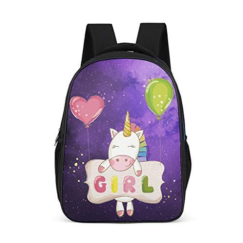 Shaoziyun Rugzak voor meisjes, modieuze schoolrugzak voor jongens, basisschool, jongens, schooltas, 25 liter, laptoptas, rugzak, eenhoorn