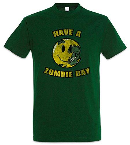 Urban Backwoods Have A Zombie Day Herren T-Shirt Grün Größe 2XL