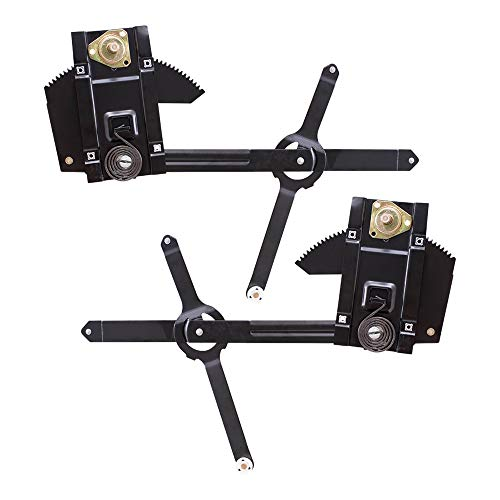 Brock Replacement Driver and Passenger Set Front Manual Window Lift Regulators Compatible with 1977-1991 Blazer Jimmy Suburban C/K/R/V Pickup Truck