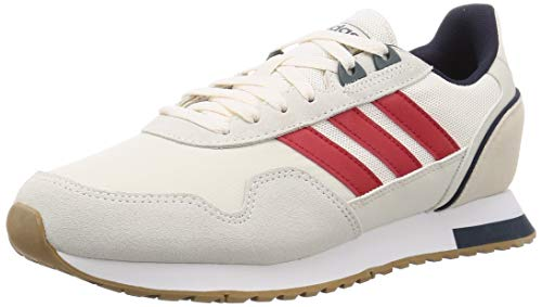 adidas Herren 8k 2020 Running Shoe, Chalk White Scarlet Legend Ink, 43 1/3 EU