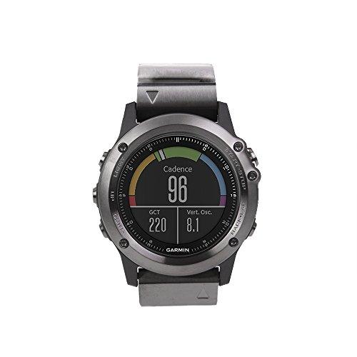 Garmin Fenix 3 Sapphire Bundle Smartwatch GPS And Heart Rate Monitor, Grigio Metallo