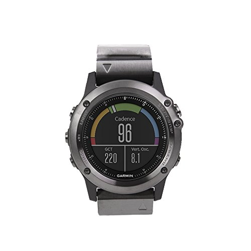 Garmin Fenix 3 Sapphire Bundle Smartwatch GPS And Heart Rate Monitor, Grigio/Metallo