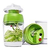 Espiralizador de verduras 5 en 1 portátil, Alldo Cortador de alimentos de la cortadora de los fideos del calabacín del calabacín