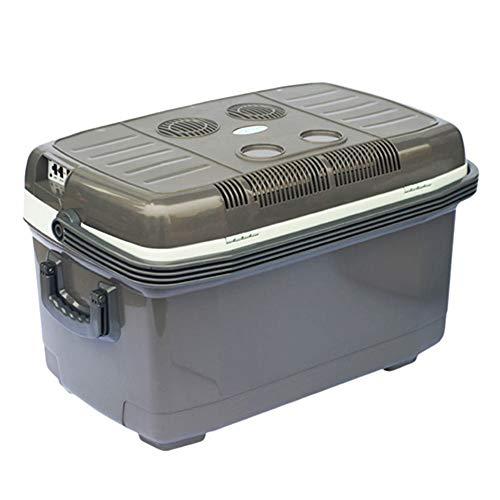 Flashing Koelbox met 45 liter, dual core 45 liter, verwarming en koelbox, auto, dual gebruik, 12 V/220 V, koeler, koeler, koeler, hengels, kleine koelkast