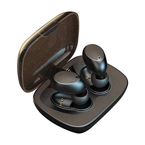 KAILAI ワイヤレス イヤホン Bluetooth 5.0 Hi-Fi自動ペアリング 3Dステレオサウンド 超大容量充電ケース付 左右分離型 各種音声アシスタント対応 Airohaチップ採用 (iPhone Android iPad 対応) (褐)