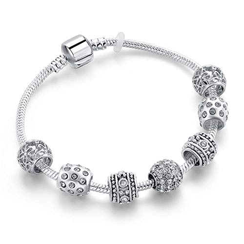 Roapk Damen Armbänder Einzigartige Zirkonia Armreifen Schmuck Kristall Charms Flower Friendship-16_cm