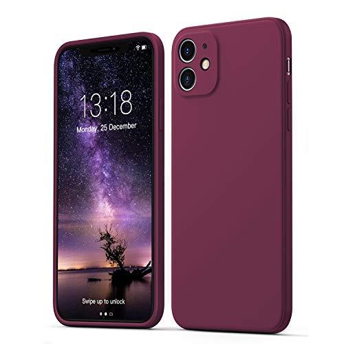 GOODVISH Cover in Silicone Morbida Ultra Sottile Compatibile con iPhone 11 6.1 '',con Protezione per Fotocamera, Custodia Protettiva Antiscivolo progettata per iPhone 11 Telefono Case,Vino Rosso