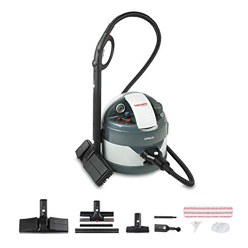 Polti PTGB0008 Limpiador a vapor de cilindro 2000W Negro, Gris limpiador a vapor - Vaporeta (Limpiador a vapor de cilindro, 6 m, Negro, Gris, 2000 W, 4,5 bar, 11 min)