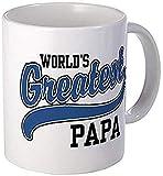 Taza grande de café – World's Greatest Papa taza – S 6 oz tazas de café, 325 ml, color blanco