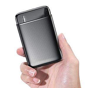 RIWNNI Mini Bateria Externa 10000mAh, Gran Capacidad Power Bank Pequeño y Ligero Batería Portátil con 2 Salida & 2…
