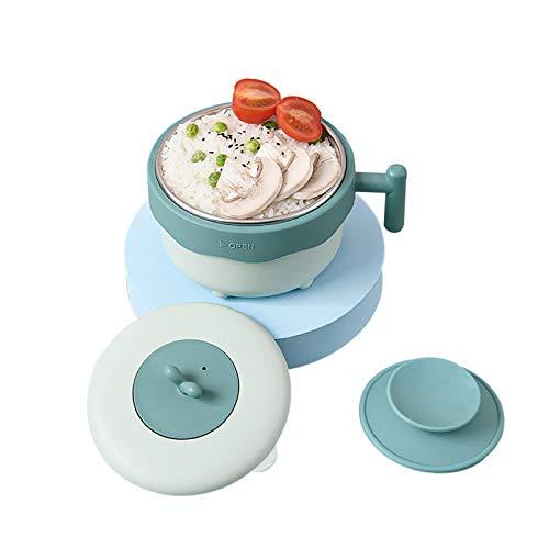 Yidata Baby Boys Girls Stainless Steel Bowl Toddler Kids Feeding Dinnerware Infants Training Suction Bowls Green