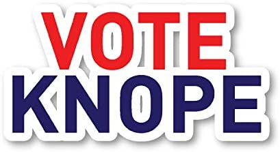 Vote Knope Sticker Parks Funny Quote Stickers Laptop Stickers 2 5 Vinyl Decal Laptop Phone Tablet product image
