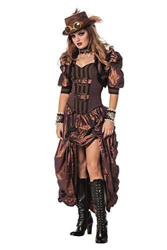 Damen Kostüm Steampunk Western Saloon Girl Karneval Fasching Gr.36