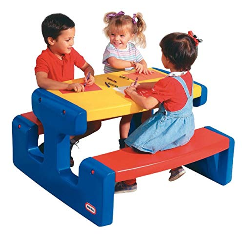 little tikes- Large Picnic Table - Primary, Multicolor (466800060)