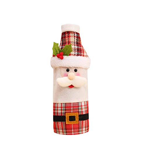 AMhomely Christmas Decorations Sale Clearance Red Wine Bag Wine Bottle Set Home Table Decoration Christmas Party Supplies Merry Christmas Decorative Xmas Decor Ornaments Party Decor Gifts