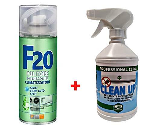 Trattamento Sanificante ed Igienizzante Completo Climatizzatori Detergente Clean Up Nettex + Igienizzante F20 Faren