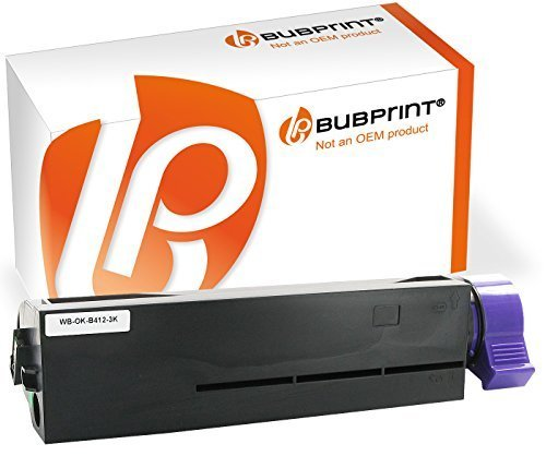 Bubprint Toner kompatibel für Oki 45807102 für B412DN B432DN B512DN MB472DNW MB492DN MB562DNW 3000 Seiten Schwarz