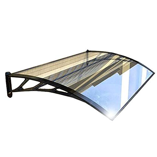 Patio Porch Awning Shelter Door Canopy Awning Window Rain Shelter Cover Canopies For Outdoor Roof DIY Polycarbonate Material Awning And Door Front Canopy (Color : A, Size : 60cmx80cm)