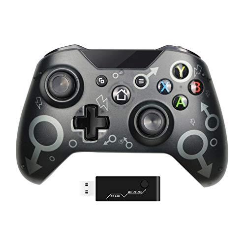 Controlador inalámbrico para Xbox One con Gamepad Adaptador inalámbrico de 2.4ghz, Compatible con Xbox One/One S/One X / P3 / Windows