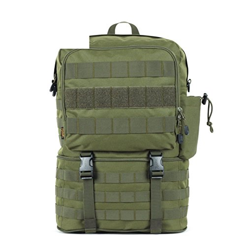 Sincere® Forfait / Sacs à dos / ventilateurs portables / Armée Ultraléger tactique Camping / simple sac à bandoulière sports de plein air d'extension ArmyGreen 30L