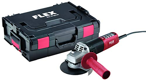 Flex Winkelschleifer LE 9-11 125 (ø 125 mm, 900 Watt, Schleifmaschine inkl. Transportbox L-Boxx, Zusatzhandgriff, Schutzhaube verstellbar, ergonomische Bauform, Spindelarretierung) 436739