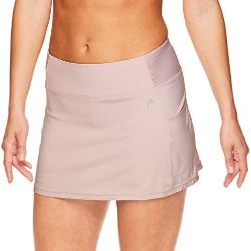 HEAD Women's Athletic Tennis Skirt with Ball Pocket - Workout Golf Exercise & Running Skort - Ability Dusty Pink, Medium