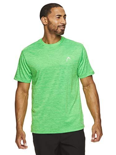 HEAD Ultra Hypertek - Camiseta de manga corta para hombre con cuello redondo para entrenamiento y entrenamiento