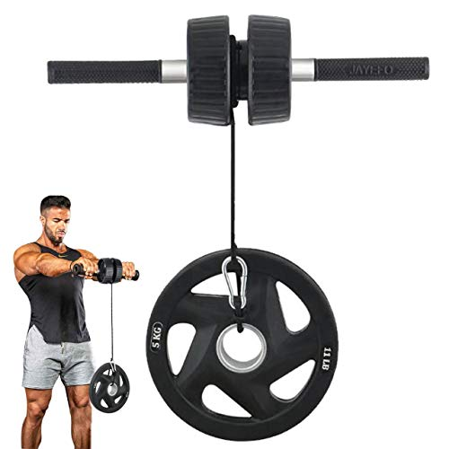 Jayefo Sports 5 in 1 Arm Machine Forearm Exerciser Wrist Roller Bicep Bar Finger Trainer and Hand Strengthener for Forearm Workout Hands Biceps Wrist Twist Strength Training Gym Tool Roller Gear