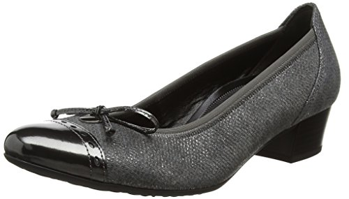 Gabor Shoes Comfort Fashion, Damen Pumps, Dunkelgrau (Steel), 39 EU
