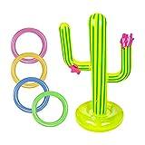 5Pcs Inflable Juegos de Lanzamiento con Cactus Inflable Anillo Inflable del Lanzamiento para Juegos Exterior niños Adulto Piscina Juego Mexican Fiesta