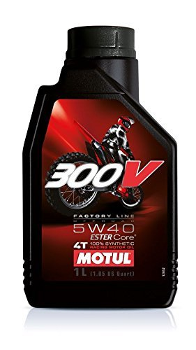 MOTUL(モチュール)300V 4T 5W40 オフロード バイク用エンジンオイル 100%化学合成(エステル) 1L [並行輸入品]